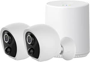 EVERSECU Wireless Home Security Camera System Wire-Free Rechargeable Battery-Powered Security Cameras recorder Kit Built-in 16GB Memory HD 1080P Night Vision APP Control 2-Way Audio Outdoor Waterproof