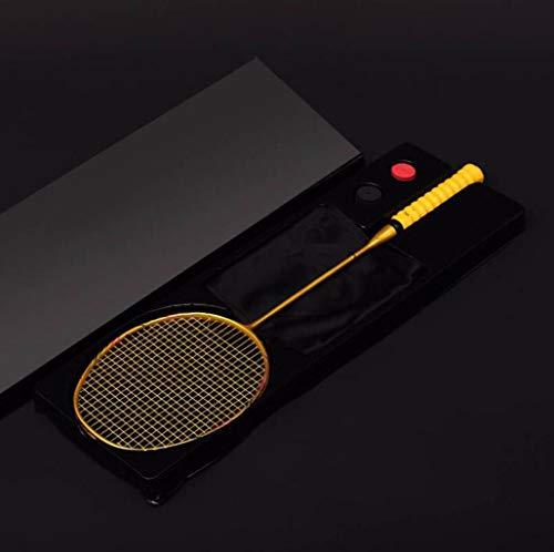 Gaoyanhang Super Light 8U Fibra de Carbono Total Raquetas de bádminton con los Bolsos de Cadena Profesional Raqueta Strung Padel Deportes for el Adulto for niños (Color : Yellow)