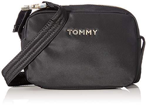 Tommy Hilfiger TH Nylon Camera Bag, Borse Donna, Nero (Black), 6x0.1x20.5 centimeters (W x H x L)