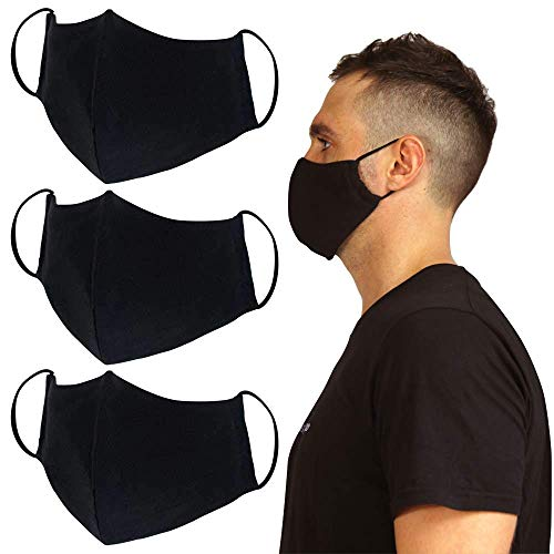 Joob Joob Reusable 3 Pack Unisex Fair Trade Cotton Adjustable Cloth Face Mask Nose and Mouth Cover