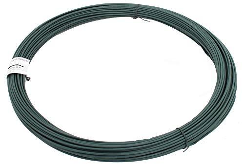 GAH-Alberts 530181 Spanndraht | verzinkt, grün kunststoffbeschichtet | Draht-Ø 3,1 mm | Länge 55 m