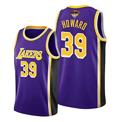 GHJK Meisterschafts-Team Los Angeles Laker Dwight Howard, 2020 Finals Basketball Jersey # 39, Unisex New Ärmel Top Mit Finals Logo S-XXL Purple-S