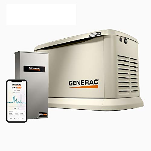 Generac Guardian 24kW Home Standby Generator with PWRview Transfer Switch Wi-Fi Enabled