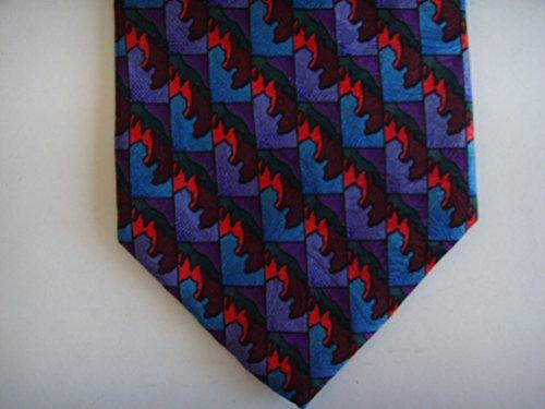 J. Garcia Mens Tie Necktie Diagonal Purple & Blue Mens Clothing 100% Silk