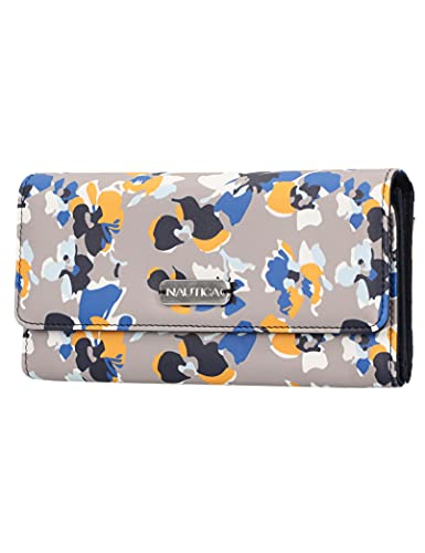 Nautica Money Manager RFID Women's Wallet Clutch Organizer (Floating Floral Atmosphere)
