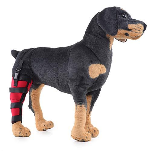 Pexwell Soporte de pierna para perro, protector de rodilla para mascotas con forro suave, material de salud para la artritis, estabilidad después de lesiones