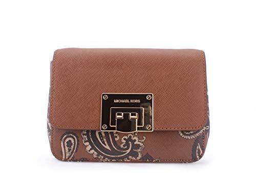 Flap Lock Closure, 4 Open Pockets Leather 7''L X 5''H X 2''W 22''-25'' Adjustable Shoulder Strap
