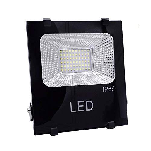 NARUJUBU Luz de inundación del LED, IP66 30W Blanca Fría impermeable reparación del césped del jardín Porche Garaje de coches Villa ahorro de energía 6000K Comercial Industrial lámpara de iluminación