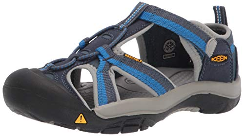 KEEN Venice H2 Closed Toe Water Sandal, Midnight Navy/Daphne, 13 US Unisex little kid