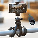 Cell Phone Tripod, Andobil iPhone Tripod with Remote, [Premium Flexible Tripod] Waterproof & 360°Rotation Tripod for iPhone 12/12 Pro Max/11/Xs/X/8 Plus/SE,Android Phone,Camera,GoPro,Travel,Vlogging