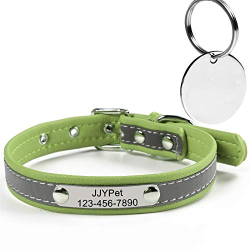 Microfiber Dog/Cat Collars Reflective with Name Engraved Extra-Small Small Medium Large Extra-Large