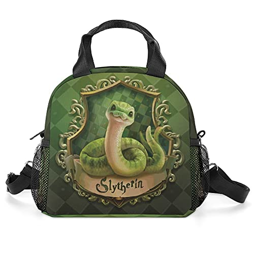Sly-Therin Lunch Bags Cooler Bag Large Reusable Lunch Tote Box with Adjustable Shoulder Strap
