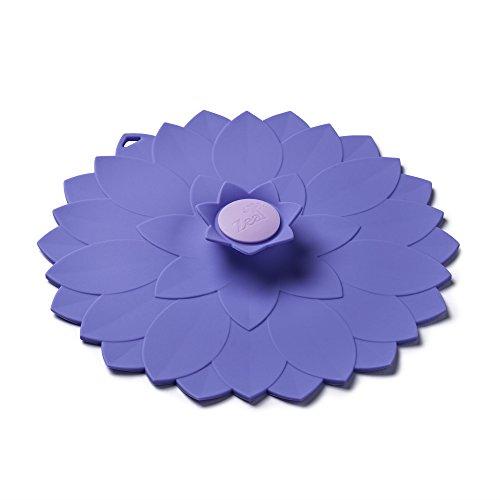 Zeal Couvercle hermétique en Silicone, réutilisable et respectueux de l'environnement en Forme de Fleur Mauve pour Cuisson et Rangement 15 x 15 x 2,5 cm, Silicone, Violet, 20 x 20 x 2.5 cm