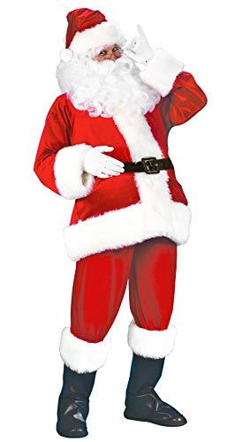 MARRYME Déguisement de Père Noël Homme 7 pièces Costume Déguisement Complet Noël Cosplay Rouge Adulte (Rouge, XL)