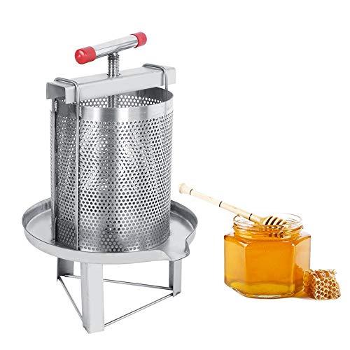 Bijenteeltgereedschap Handmatige mesh honingwaspers, roestvrijstalen huishoudelijke handmatige honingperswaspers Bijenteeltgereedschap met filter voor het maken van apparatuur voor zelf in huis