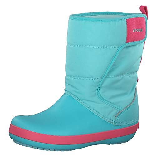 Crocs Unisex-Kinder LodgePoint Snow Boot K Schneestiefel, Blue (Ice Blue/Pool 4ja), 32/33