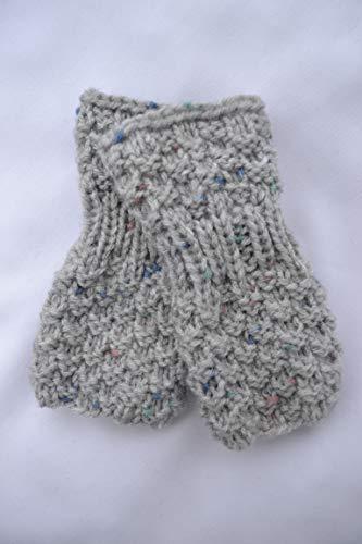 Stulpen Babystulpen Armstulpen Pulswärmer Handschuhe Baby grau bunt vegan handgestrickt 0-12 Monate