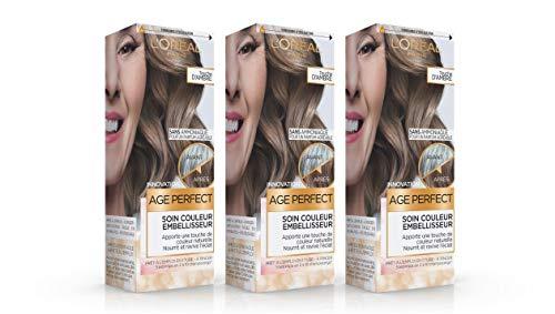 L'Oréal Paris Age Perfect Soin Couleur Embellisseur Touche d'Ambre 80 ml - Lot de 3