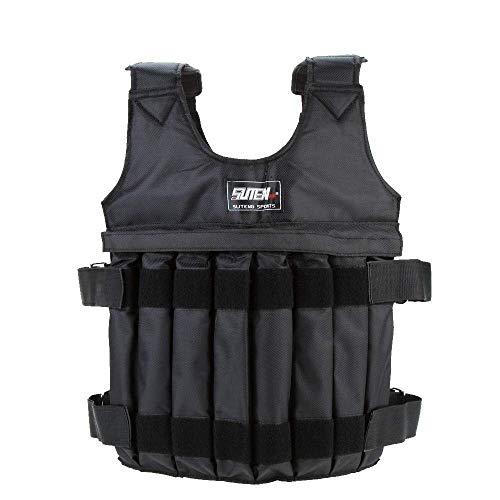 YunJiadodo - Gilet con ponderazione, regolabile, per allenamento di forza, peso 20 kg
