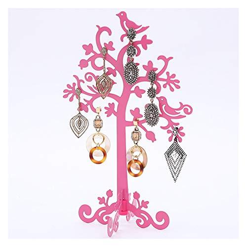 ZHUSHI Exhibición de joyería en Forma de Rama Creativa, Pendientes de exhibición, Colgante, Gancho para la Oreja, Soporte, Estante de Almacenamiento, Organizador de Vitrina (Color : Pink)