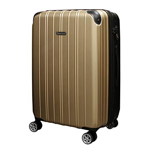 [DPN5035]キャリーケース スーツケース 軽量 Wキャスター TSAロック キャリーバッグ 旅行バッグ 旅行カバン (S, ゴールド)
