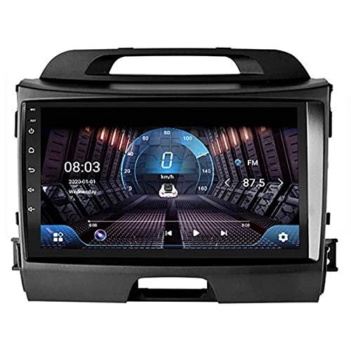 WY-CAR Android 8.1 9 Pulgadas Pantalla Táctil para Automóvil Multimedia Player para Kia Sportage R 2010-2018, FM/Bluetooth/SWC/Enlace De Espejo/Cámara De Vista Trasera,4 Core-WiFi: 4+64G