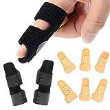8Pcs Finger Splints combination, Adjustable Trigger Finger Splint Brace,6 Sizes Brace Plastic Finger Support Protector