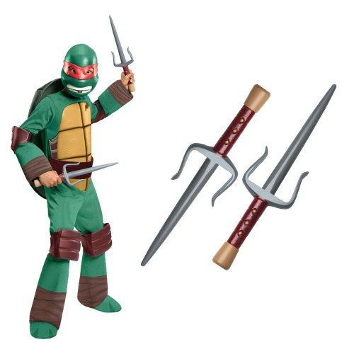 Teenage Mutant Ninja Turtle – Raphael Kids Costume With Sais, Medium