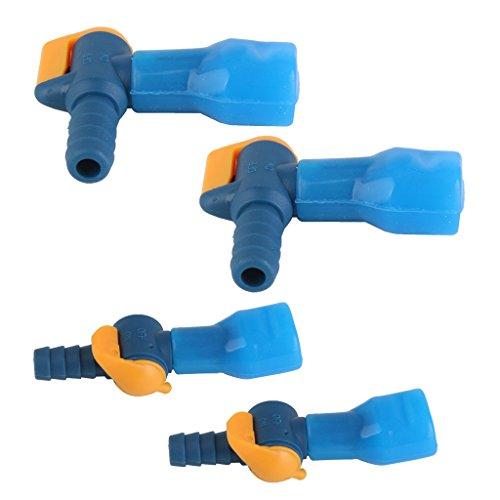 MagiDeal 4pcs Valve Tube Poche d'eau Camping Tube Poche D'hydration avec Cache-poussière