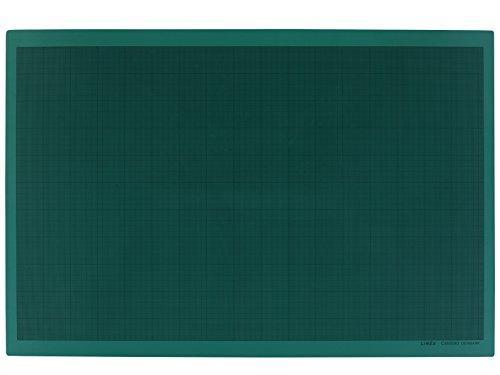LINEX 100411034 Snijmat A1 60 x 90 cm groen zelfsluitend oppervlak 3-laags constructie voor dubbelzijdig gebruik 1 zijde met mm-raster