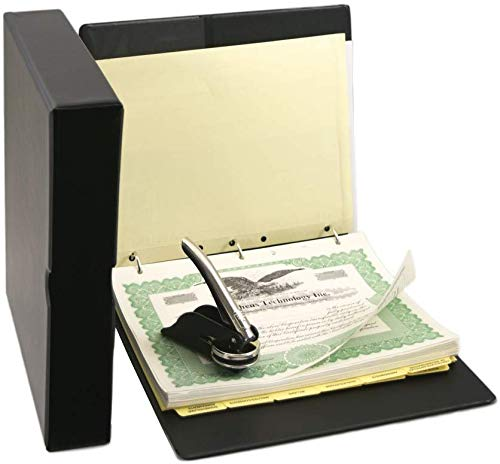 Corporate Kit with Printed Corporation Minutes & Bylaws, Records Binder, Corporate Seal, Printed Certificates with Stubs and More (Blumberg Black Beauty with Printed Minutes and Bylaws)