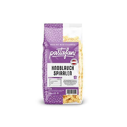 pastafani Knoblauch Spiralen 330g - Nudeln mit Knoblauch-Geschmack. Regionale Pasta-Fusilli aus natürlichen, qualitativ hochwertigen Zutaten ohne Aroma- oder Zusatzstoffe.