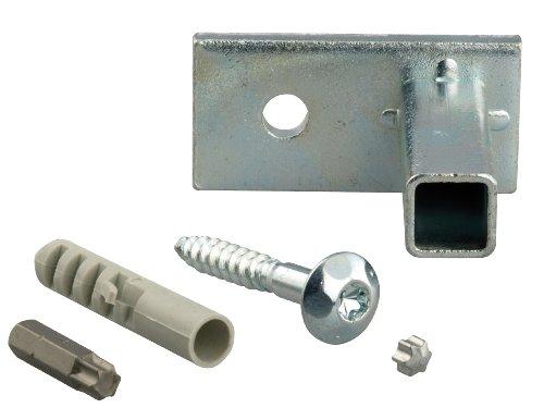 GAH-Alberts 554361 bevestigingsset voor raamroosters in het raamkozijn - montage accessoires voor raamroosters, galvanisch blauw verzinkt - set van 4