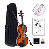 Aileen Violin Full Size 4/4 Outfit Solid wood Students Adults Beginners Violin Set