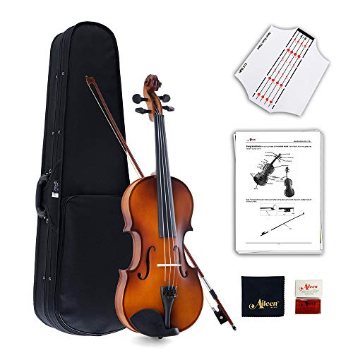 Winzz Violine Voller Größe 4/4 Ausstattung Massivholz, Schüler Erwachsene Anfänger Violinenset - Braun