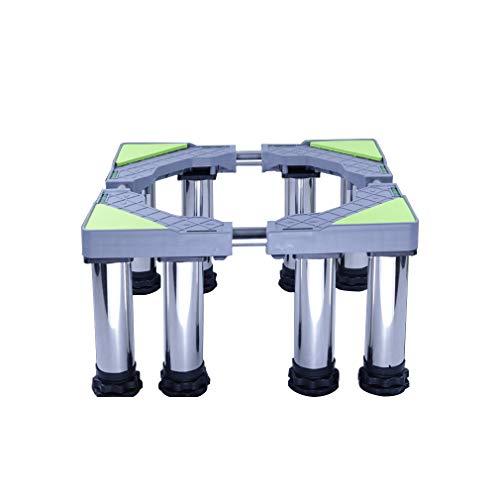 Base Lavadora del Tambor Soporte Lavadora Secadora Altura 24-27cm soporte y bastidor para Nevera y Aire Acondicionado largo/ancho 45-65cm 4/8/12 Pies Antideslizantes Estante