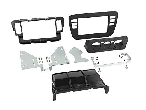Radio-Blende geeignet für Seat MII | Skoda Citigo | VW up! Doppel-DIN Schwarz