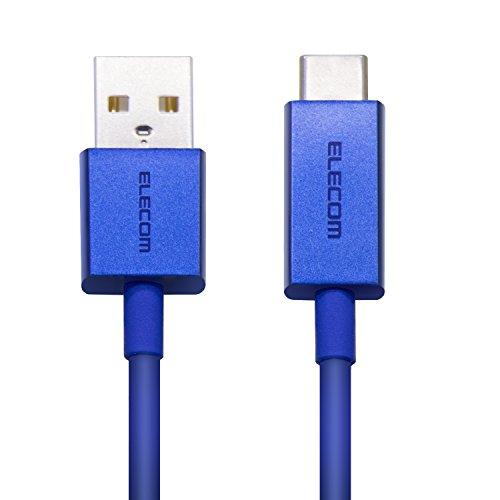 エレコム USB TYPE C ケーブル タイプC (USB A to USB C ) 3A出力で超急速充電 USB2.0準拠品 0.3m ブルー M...