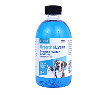 BREATHALYSER imrex Pet Breath Freshener and Dental Care Water Additive for Dogs and Cats   500 ml