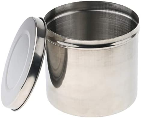 Baosity Stainless Steel Ointment Jar Sponge Cotton Dressing Container W Lid 12cm product image