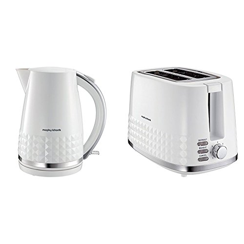 Morphy Richards Dimensions 2 Slice Toaster and Jug Kettle - White