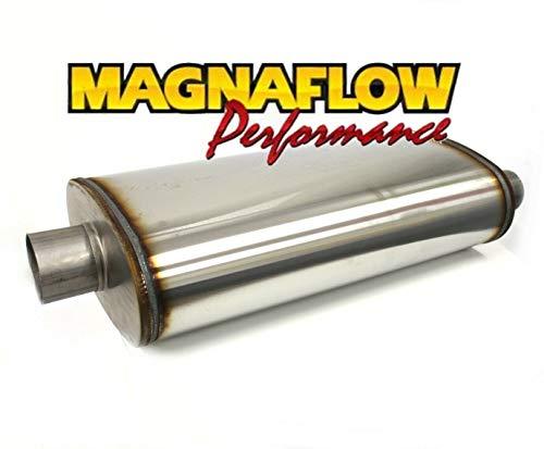 MagNAFLOW V2A roestvrijstalen sportuitlaatpan met inbouwset (met dubbele uitgang)