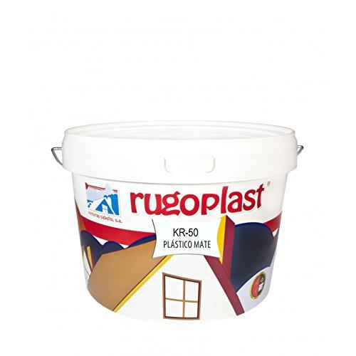 Pintura plástica blanca mate de alta calidad interior/exterior ideal para decorar tu casa (salón, cocina, baño, dormitorios.) KR-50 (10 Kg). Envío GRATIS 24 h.