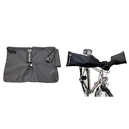 NC-17 Schutzhülle, Motorschutz, Abdeckung, Motorcover für e-Bike Mittelmotoren Connect | Schwarz & NC-17 Connect Schutzhüllen für E-Bike Lenker und Fahrrad Sattel/One Size/Nylon