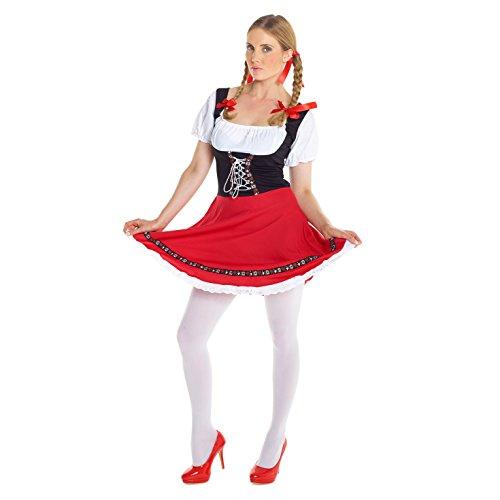 Morph Disfraz típico alemán para el Oktoberfest con Dirndl para Adultos, Talla L