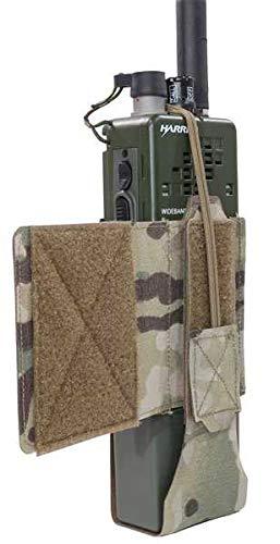 WARRIOR - A.S. Pochette radio MBTIR Laser Cut Wing Velcro (gauche), Multicam.