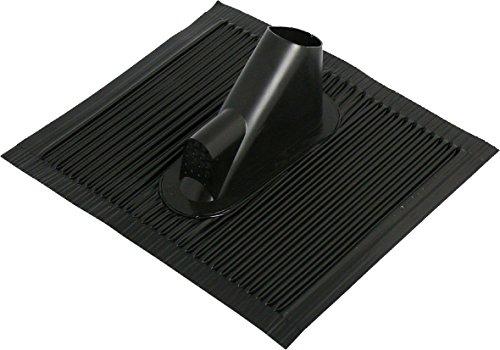SKT BN85-02 Aluminium-Dachziegel mit Kabeleinführung schwarz