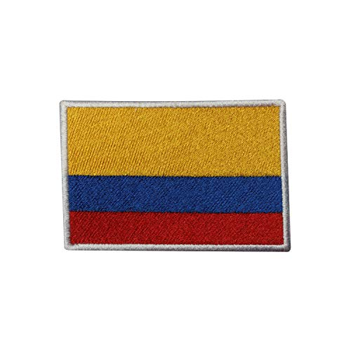 Parche bordado con la bandera nacional de Colombia para coser o planchar, para ropa, etc.