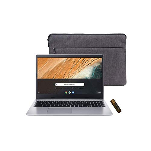 Latest_Acer Chromebook 315, 15.6' HD, Intel Celeron N4000, 4GB RAM, 32GB eMMC, 802.11ac, Bluetooth 5.0, Protective Sleeve, Chrome OS with Santex Pro Accessories