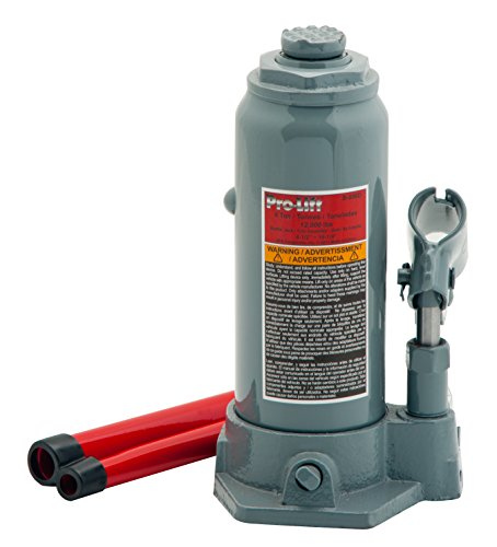 Pro-Lift B-006D Grey Hydraulic Bottle Jack - 6 Ton Capacity